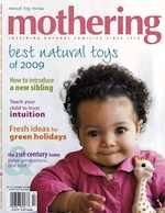 Mothering Magazine Featured Sophie the Giraffe Teether on the Magazine Cover